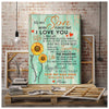 Son Canvas - To my Son Never Forget that I love you Life is filled with hard times & good times be brave be bold From Mom Matte Canvas - Family Presents