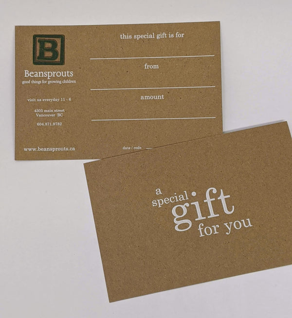 Beansprouts Digital Gift Card