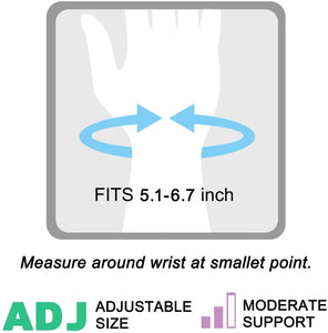 Removable Metal Splint Wrist Brace for Bowling, Sports - Injuries Pain Relief