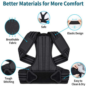 Adjustable & Breathable Posture Corrector for Spine and Back Support