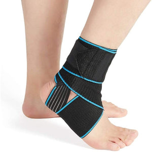 Adjustable & Compression Ankle Support Brace for Injury Recovery