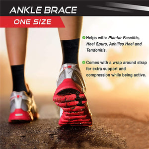 Lightweight Ankle Support with Adjustable Wrap for Working out