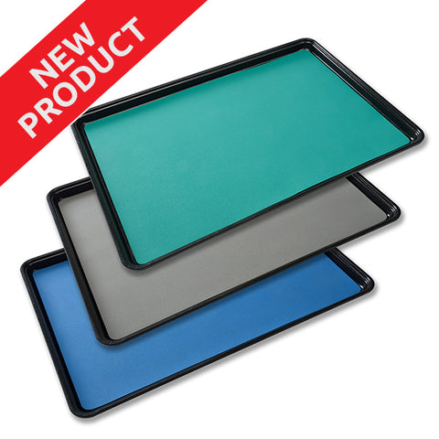<center>S1460TM Series: Textured Surface 2-Layer Rubber Tray Mats</center>