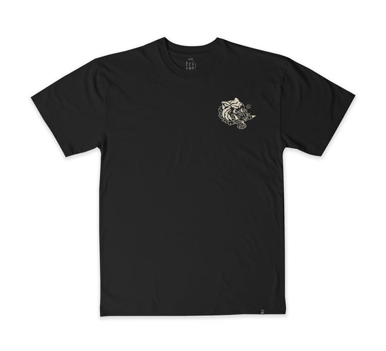 Satisfied T-shirt - BLACK