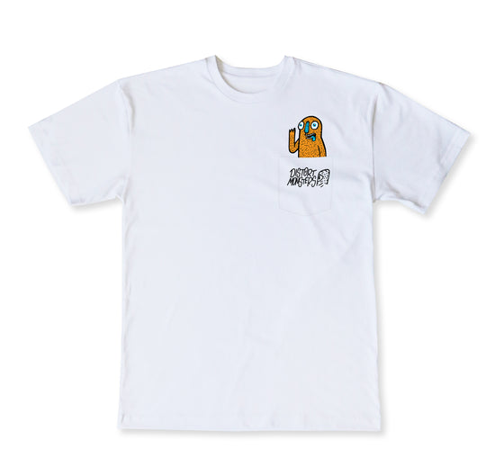 Orange Monster T-Shirt - WHITE