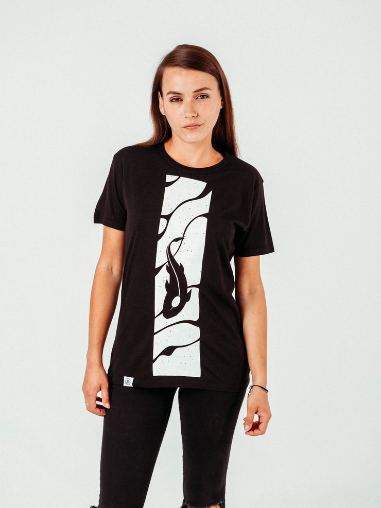 Koi Black T-Shirt - TOMOTO