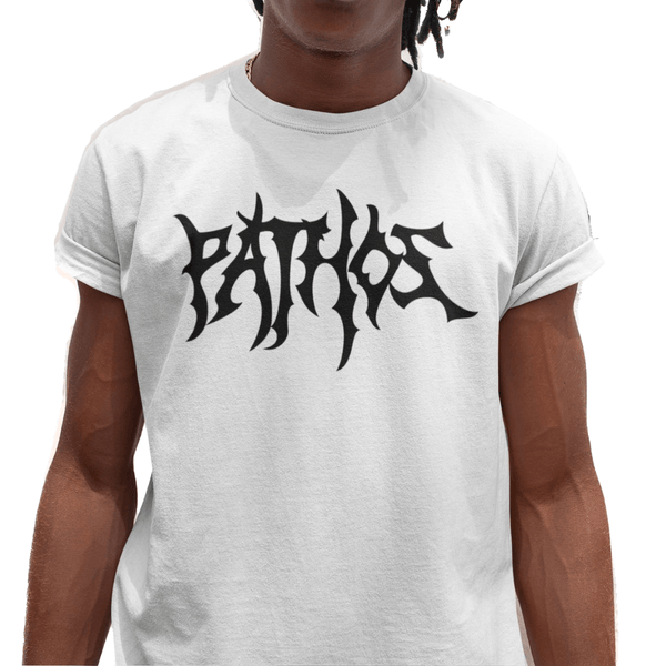 Death Metal Tee (White/Black) - Pathos Of Things
