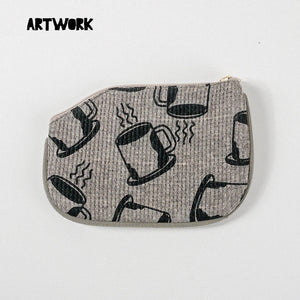 Coffee Pattern Coin Purse