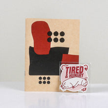 Load image into Gallery viewer, Tired and Hungry Mini Drawing Book and Sticker Set