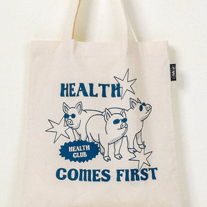 Health Comes First Tote Bag