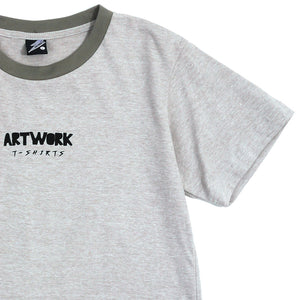 Artwork T-shirt Gray Girls Tee