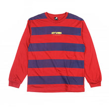 Load image into Gallery viewer, Artwork Logo Stripes Long-sleeved Tee
