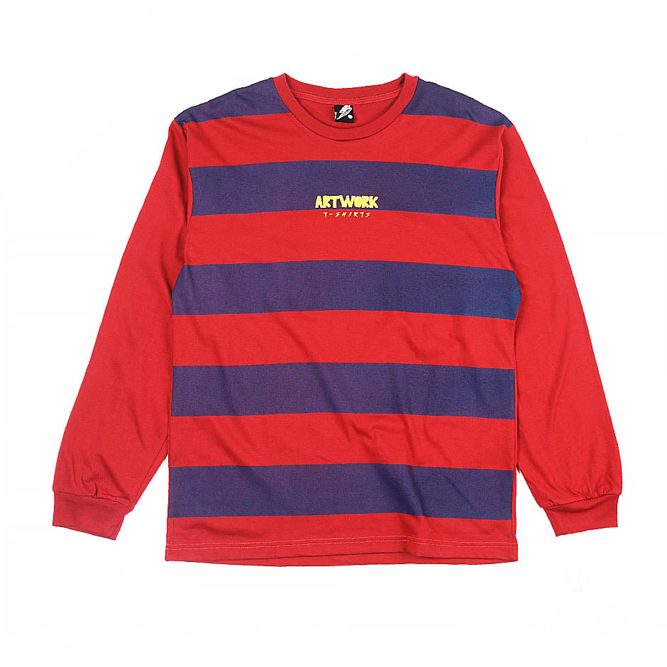 Artwork Logo Stripes Long-sleeved Tee