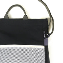 Load image into Gallery viewer, Two-way Tote Bag - Black/Gray