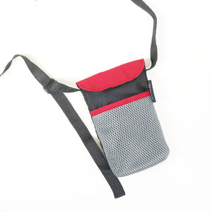 Black/Maroon String Phone Pouch