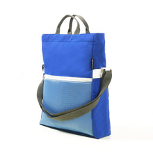 Load image into Gallery viewer, Two-way Tote Bag - Blue/White