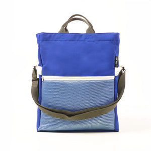 Two-way Tote Bag - Blue/White
