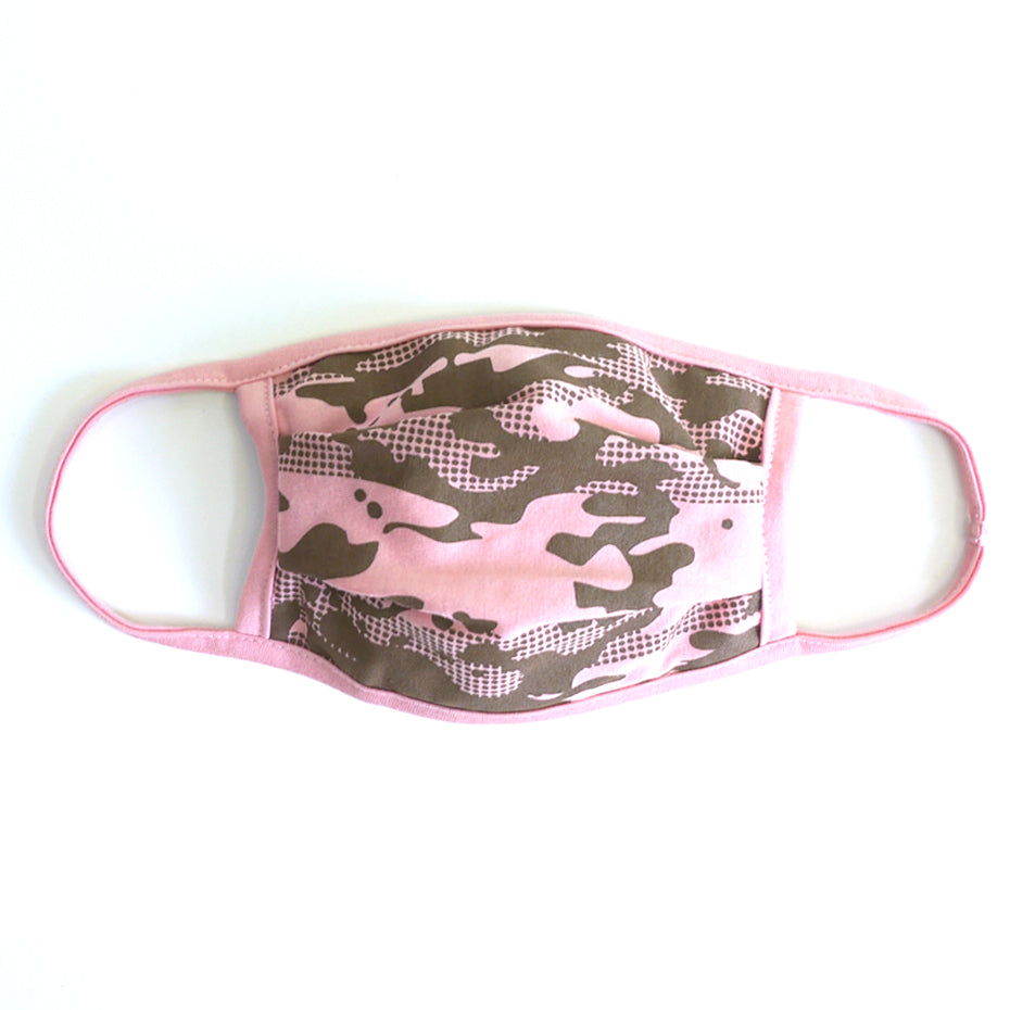 Camo 3 Pink Washable Face Mask