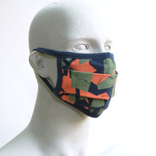 Load image into Gallery viewer, Camo 4 Navy Washable Face Mask