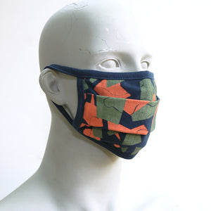Camo 4 Navy Washable Face Mask