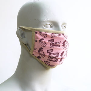 Caution Pink Washable Face Mask