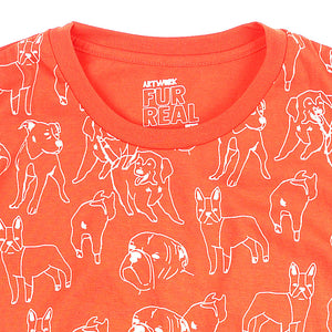 Doggo Pattern Girls Tee