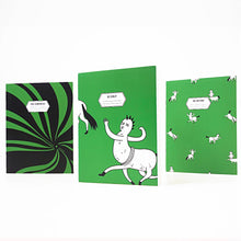 Load image into Gallery viewer, F1 Green 3 Pc. Filler Notebook Set