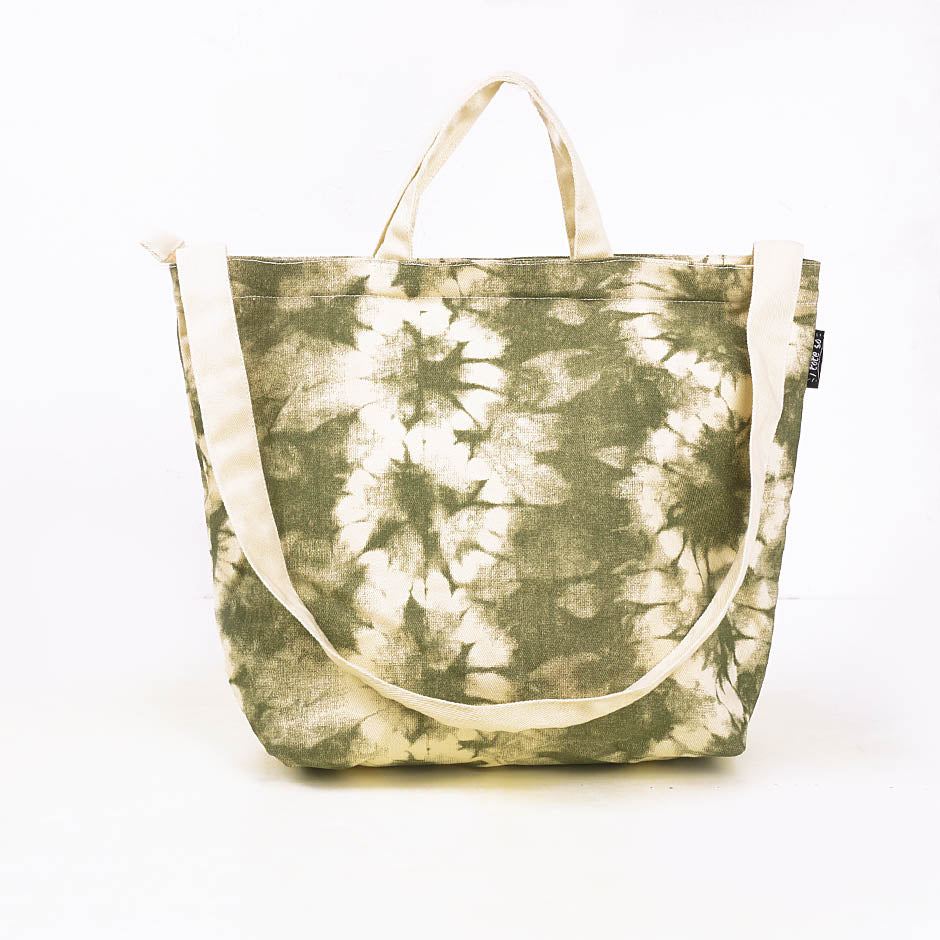Flower Tie Dye Sling Tote Bag