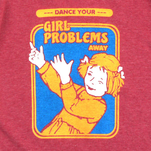 Girl Problems Girls Ringer Tee