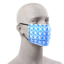 Load image into Gallery viewer, Smile Graffiti Face Mask and Alcohol Set - Cyan