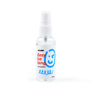 Smile Graffiti Face Mask and Alcohol Set - Cyan