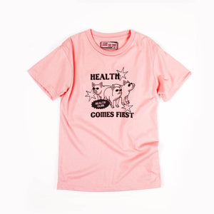 Health Comes First Girls Tee