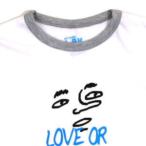 Love Or Hate Girls Ringer Tee
