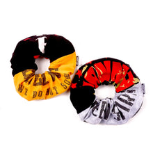 Load image into Gallery viewer, Mustard Black 2 Pc. Scrunchie Set - Assorted