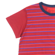 Load image into Gallery viewer, Three Color Stripes Pocket Tee