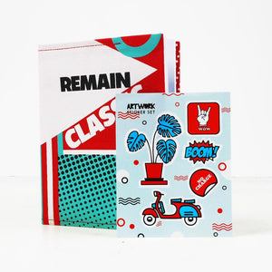 Remain Classic Doodle Book and Sticker Set