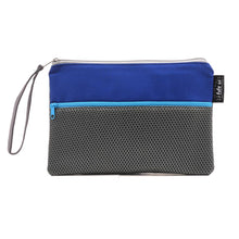 Load image into Gallery viewer, Blue Gray Mesh Utility Pouch