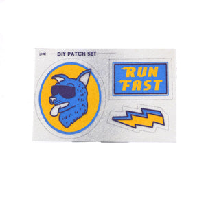 Run Fast Pouch and DIY Patch Set