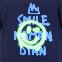 Load image into Gallery viewer, Smile Naman Dyan Navy Girls Tee
