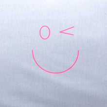 Load image into Gallery viewer, Smiley Wink Face Gray 2 Pc. Bed Pillowcase