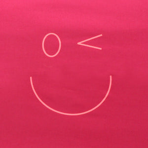 Smiley Wink Face Fuchsia 2 Pc. Bed Pillowcase