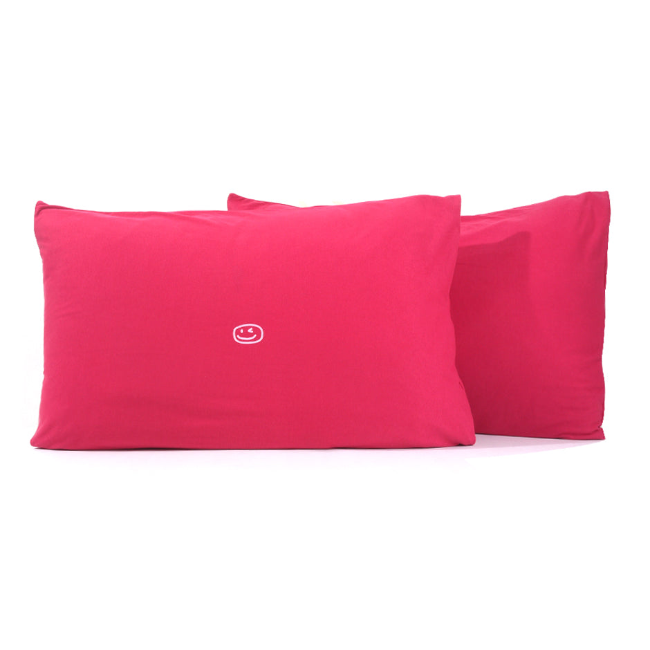 Smiley Wink Fuchsia 2 Pc. Bed Pillowcase