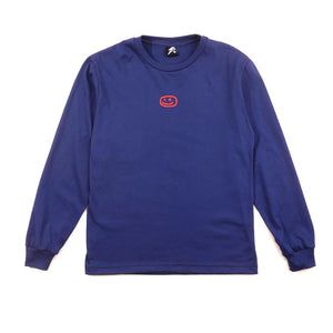 Smiley Wink Royal Blue Sweater