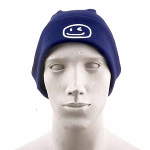 Smiley Wink Navy Beanie