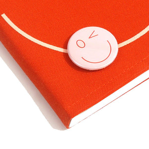 Smiley Wink Orange Doodle Book and Pin Set