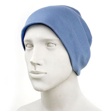 Load image into Gallery viewer, Smiley Wink Blue Beanie