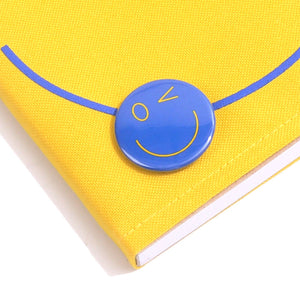 Smiley Wink Yellow Doodle Book and Pin Set