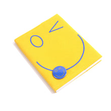 Load image into Gallery viewer, Smiley Wink Yellow Doodle Book and Pin Set