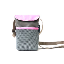 Load image into Gallery viewer, Pink/Gray String Phone Pouch