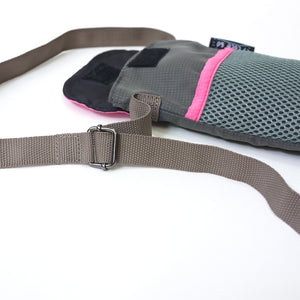 Pink/Gray String Phone Pouch